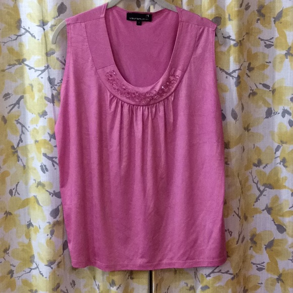 Laura plus pink tank top